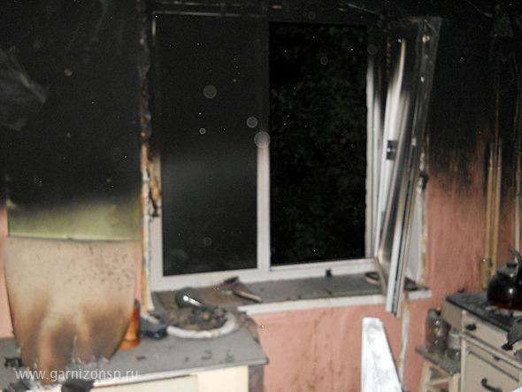 Пожар в квартире ул. Железнодорожная.
