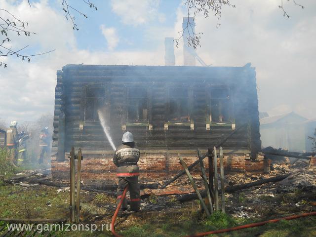 Пожар в деревне Воронино