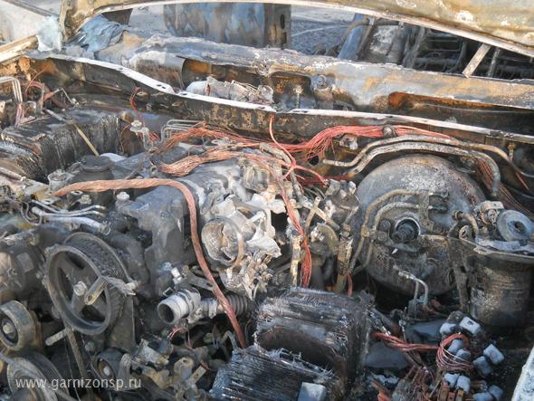В Мостовике сгорел автомобиль