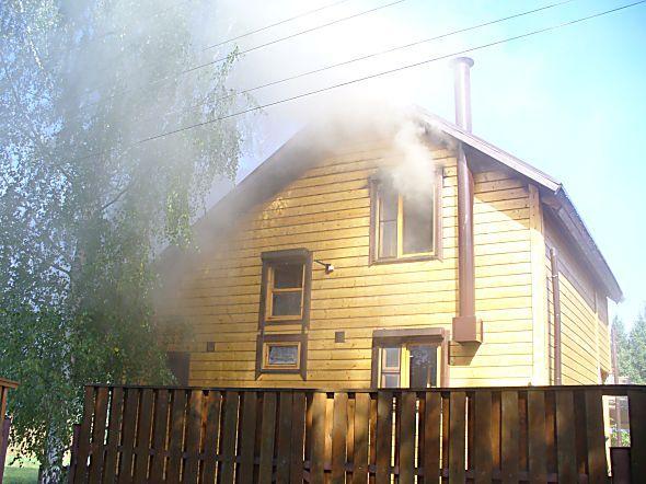 Пожар в деревне Арханово
