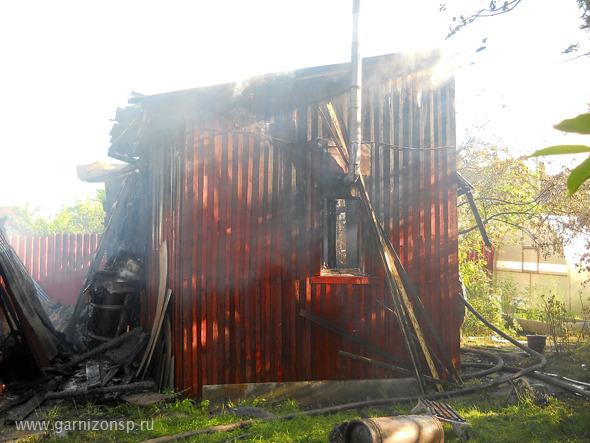 Пожар в поселке Мостовик