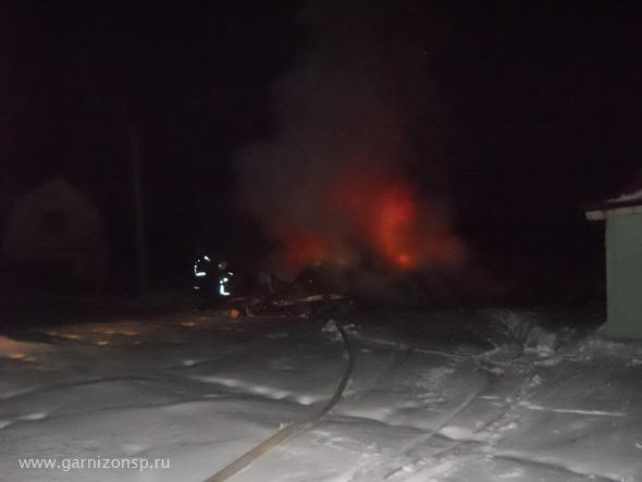 Два пожара за прошедшую ночь