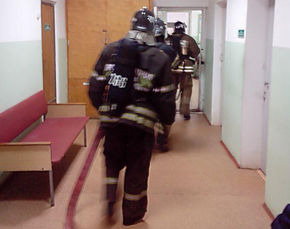 Условный пожар в Хотьковской больнице потушен