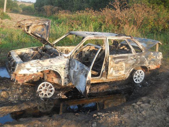 В Машутино сгорел автомобиль
