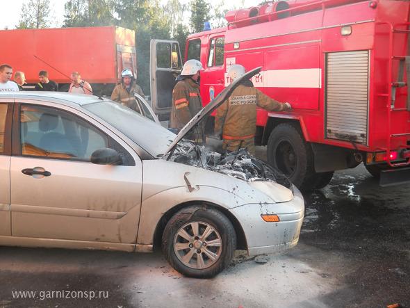 В Сергиевом Посаде сгорел форд фокус