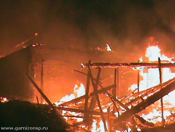 Пожар в конно-спортивном клубе