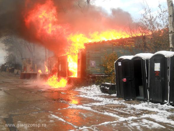 Пожар - пейнтбольный клуб «ТОПГАН»