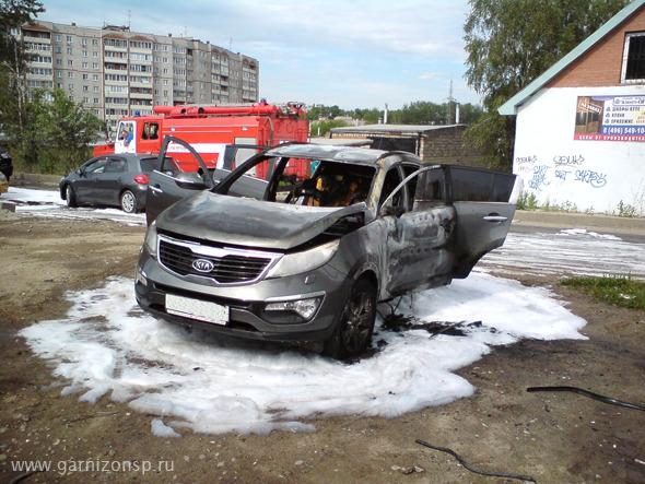 В Сергиевом Посаде сгорел автомобиль