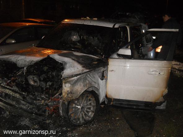 В Хотьково горели автомобили