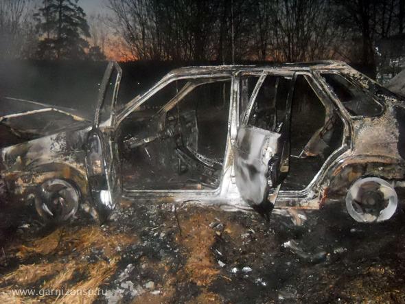 В Торбеево сгорел автомобиль