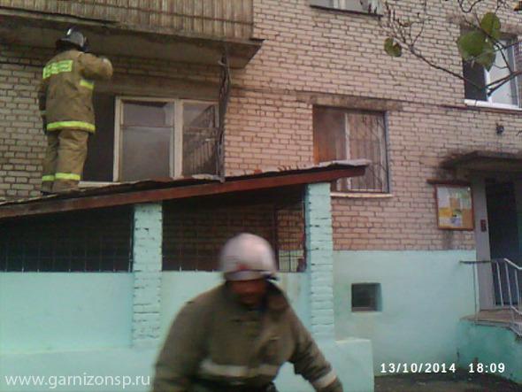 В Краснозаводске горела квартира