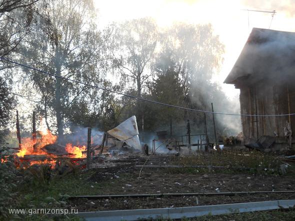 Пожар в поселке Рыбхоз