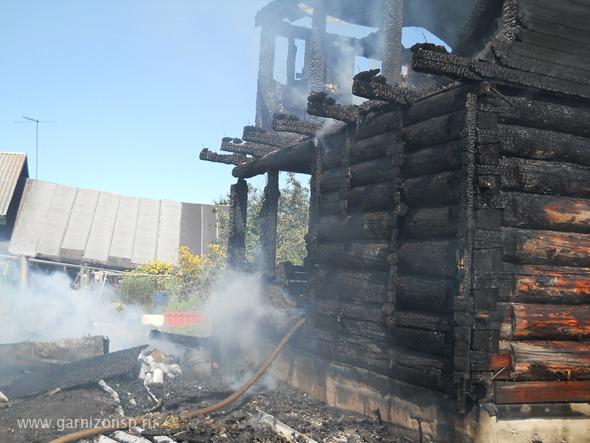 В деревне Бор сгорела баня