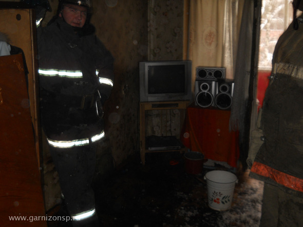 Пожарные спасли дедушку и внука