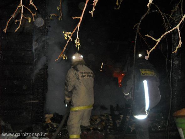 Пожар в селе Радонеж